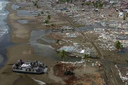 Photo de Sumatra après le séisme