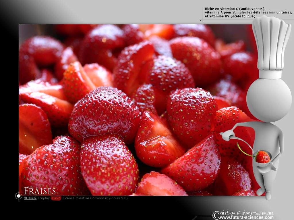 Fraise, riche en vitamine C
