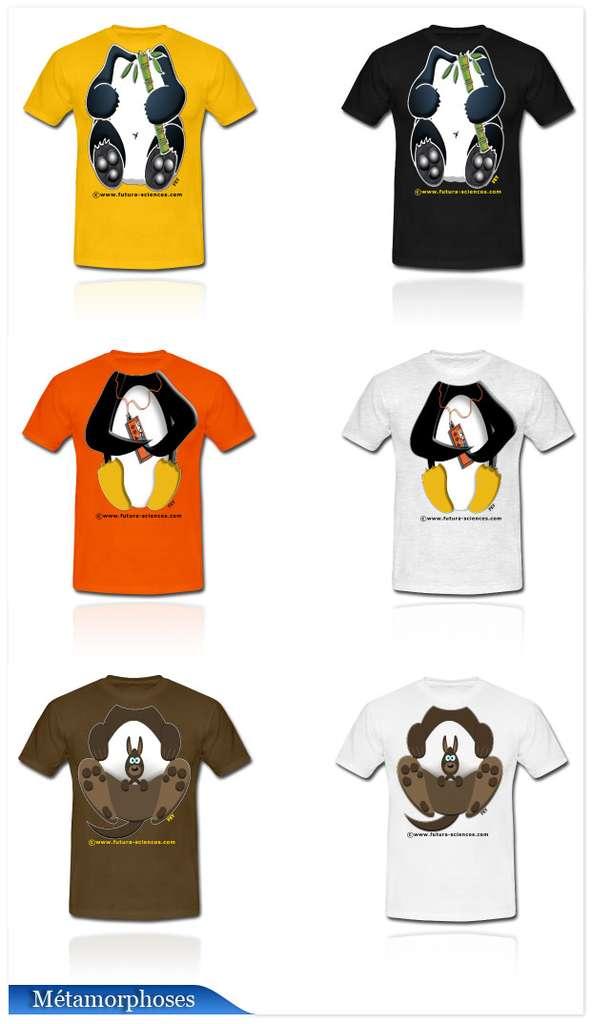 Cliquez pour découvrir les T-shirts métamorphoses.