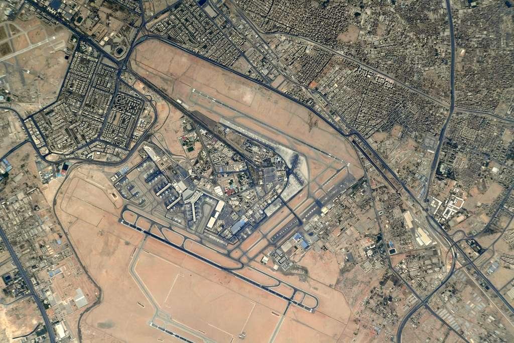 L'aéroport du Caire photographié par Thomas Pesquet, en mai 2021. © Esa, Nasa, Thomas Pesquet