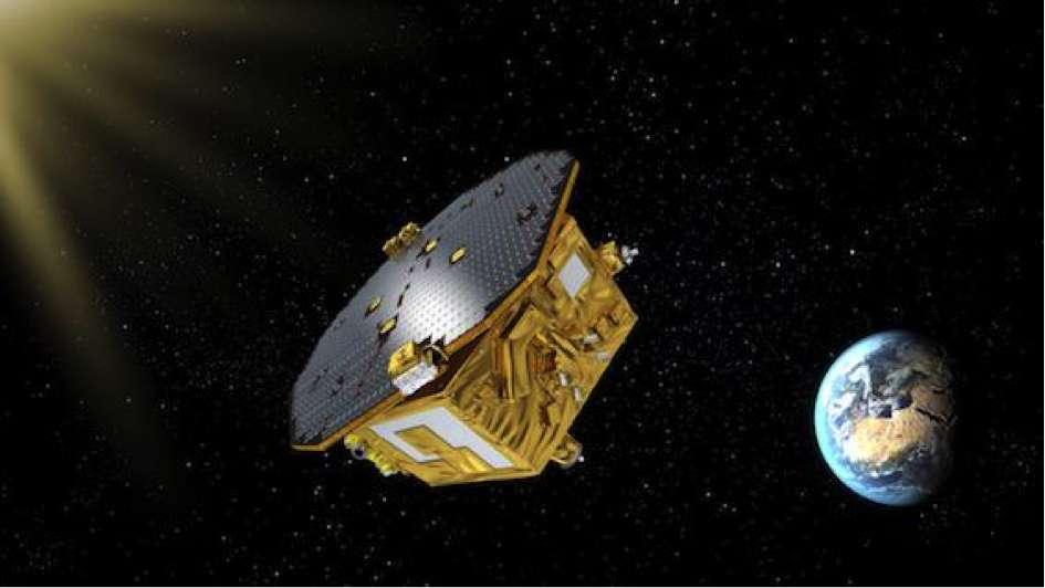 Représentation du Lisa Pathfinder, sonde-test de la mission LISA. © ESA