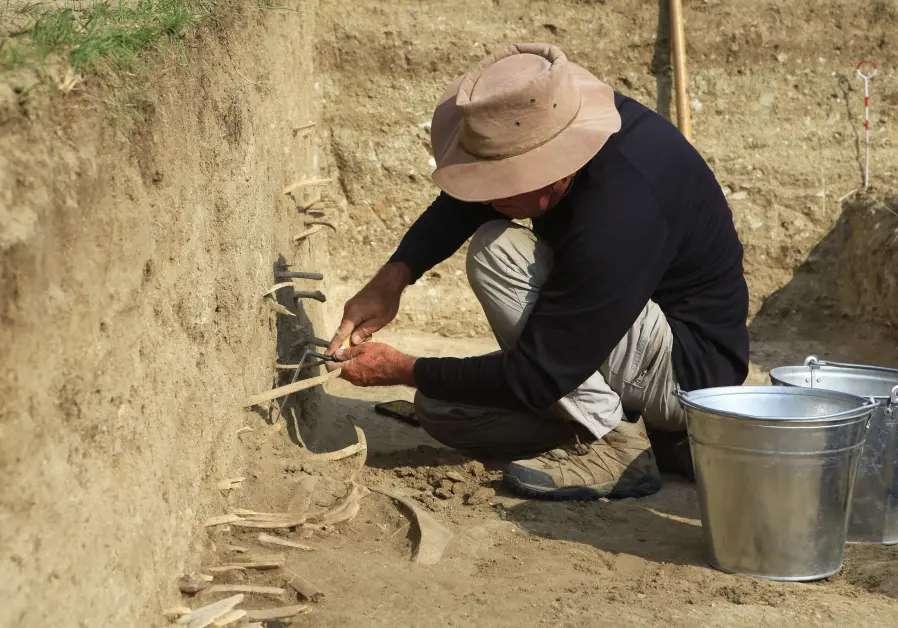 Travaux d'excavation sur le segment nord de la muraille de Gengis Khan. © Université hébraïque de Jérusalem