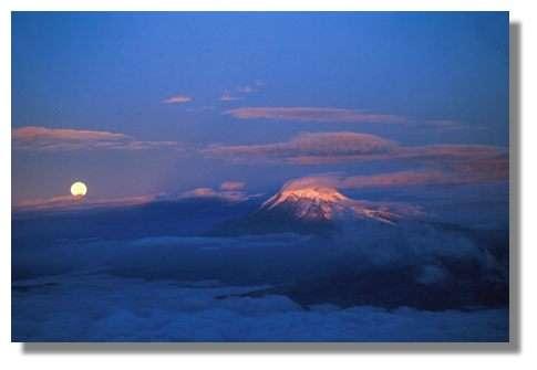 Vue du Chimborazo lors de l'ascension du volcan Altar. Equateur. © IRD/Patrick Wagnon