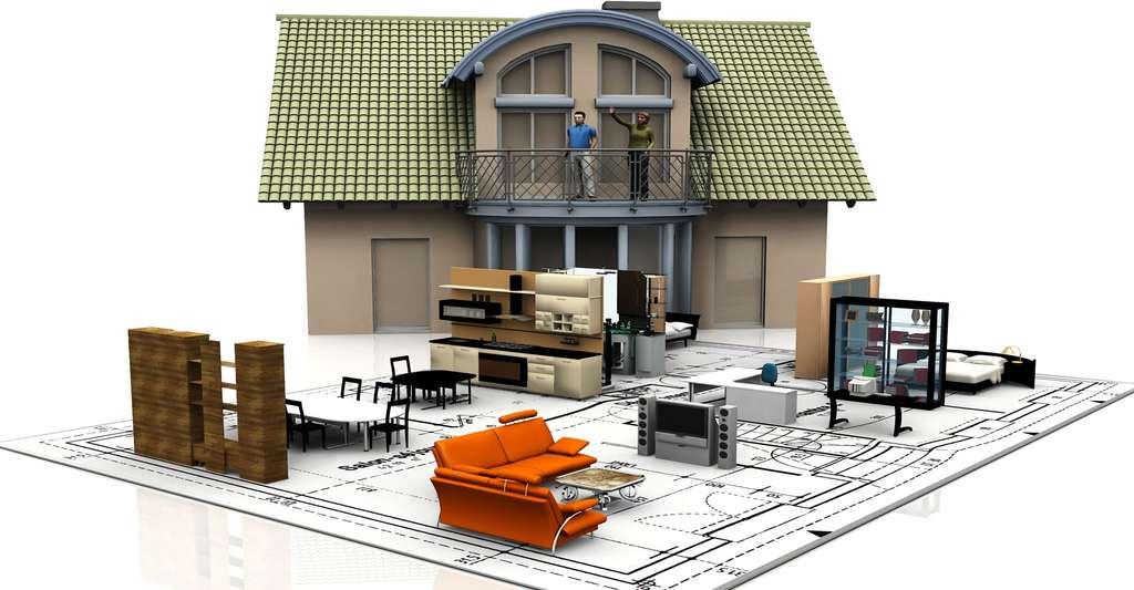 Pour aménager votre salon en 3D par exemple, il est possible, d'utiliser les applications proposées par les enseignes. La modélisation sera en revanche plus restrictive sur le choix des meubles. © Njaj Shutterstock