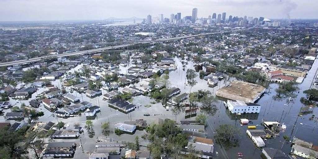 La Nouvelle-Orléans, en Louisiane, inondée à 80 % après le passage de l'ouragan Katrina, en 2005. © AFP, Vincent Laforet
