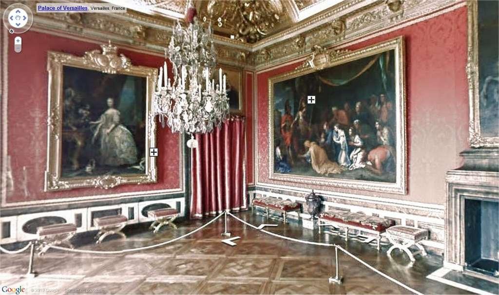 On peut se promener dans le musée, à la manière de Street View. © Google