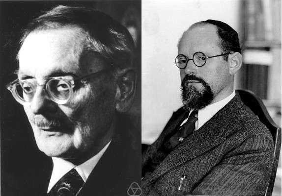 Ernst Zermelo (à gauche) et Abraham Fraenkel (à droite) ont défini la théorie ZF au début du XXe siècle. © Photo de gauche : Konrad Jacobs, cc by sa 2.0 ; photo de droite : DP