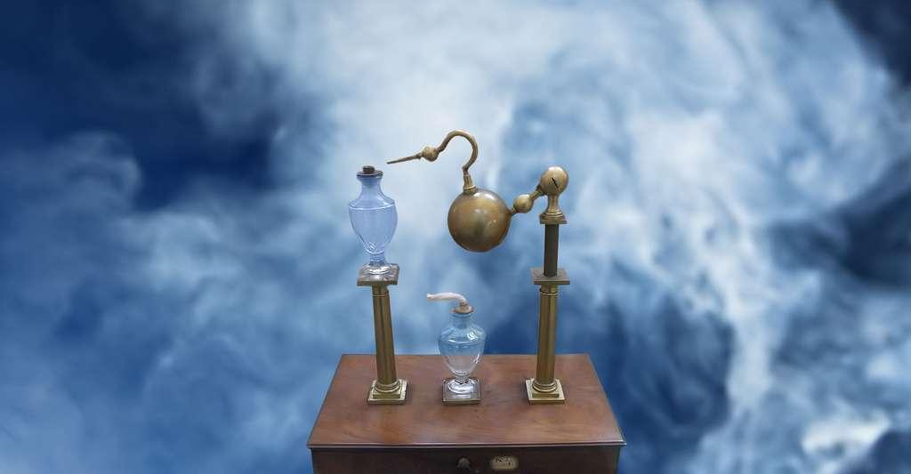 L'éolipyle (lat. æolipila, « boule d'Éole, sphère de vent ») est une machine à vapeur et à réaction conçue par Héron d'Alexandrie (1er siècle ap. J.-C.). © Chatsam - CC BY-SA 4.0