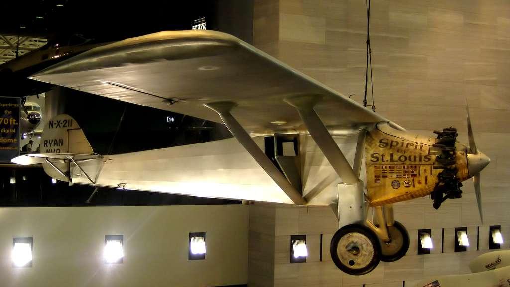Le Spirit of St. Louis (l'avion de Charles Lindbergh) et la traversée de l'Atlantique