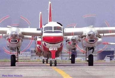 Les trackers S-2FT, ces avions qui luttent contre les feux de forêt. © Tracker-France - Tous droits de reproduction interdits