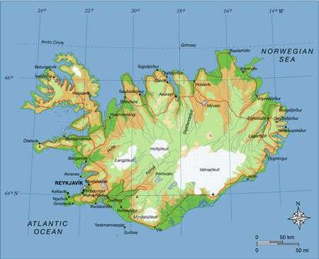L'Islande est située juste en dessous du cercle arctique. © DR