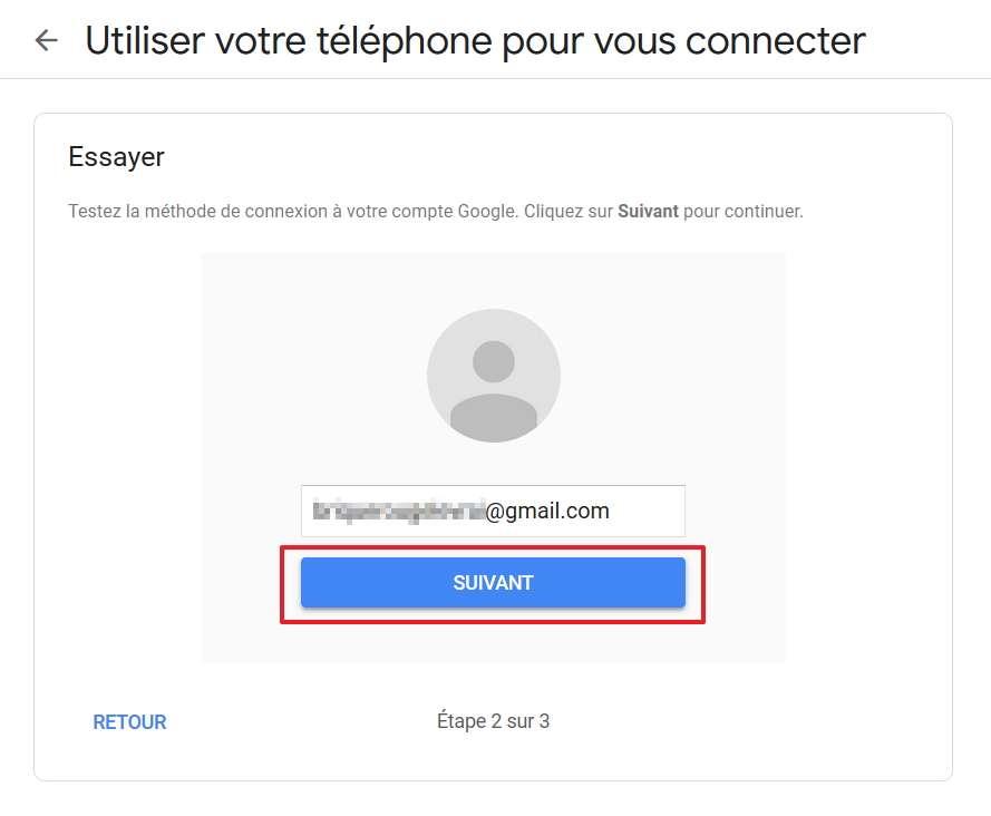 Google va démarrer un test pour s'assurer que la méthode fonctionne correctement. © Google