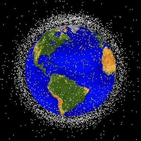 Répartition des satellites détectés en orbite basse (Nasa 2007).
