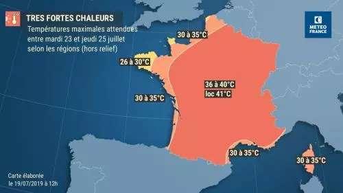 Le pays connaîtra un nouvel épisode caniculaire la semaine du 22 juillet 2019, sans toutefois dépasser les températures record de la canicule de fin juin. © Météo-France