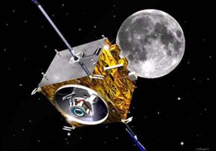 Sonde orbitale lunaire Smart 1 équipée d'un moteur ionique © ESA