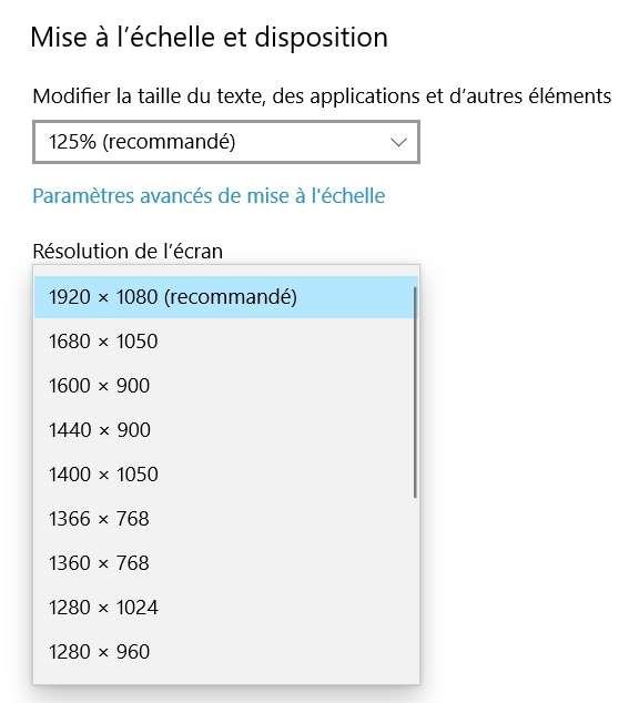 Définissez une nouvelle résolution plus grande que la précédente pour retrouver votre fenêtre. © Microsoft