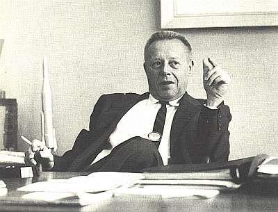 Karel Bossart à Cap Canaveral, en 1959. Document Lockheed-Martin