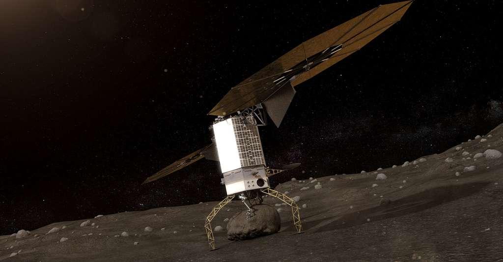 Vue d'artiste de la capture d'un astéroïde. © Nasa