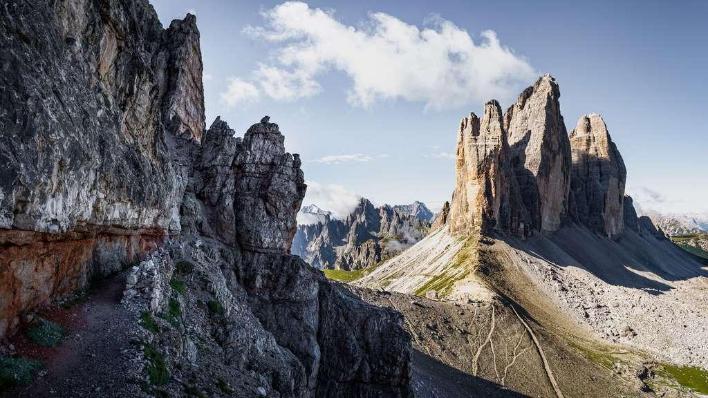 Les verticales Trois cimes, symbole des Dolomites