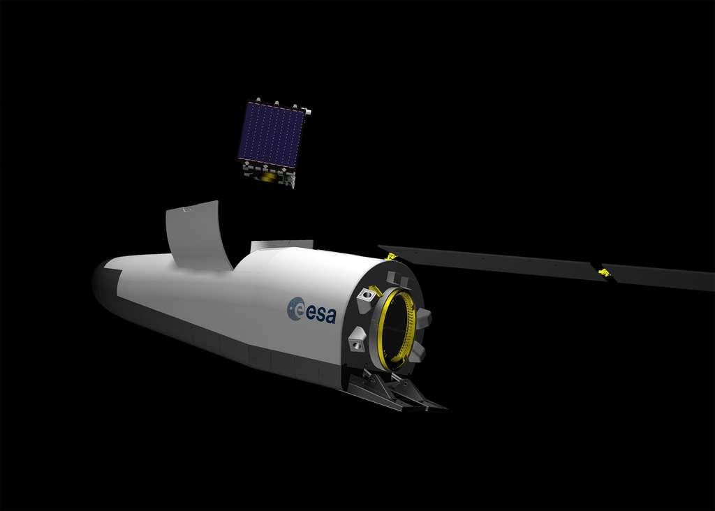 Le véhicule spatial Space Rider tel qu'il était envisagé en 2016. © J. Huart, ESA