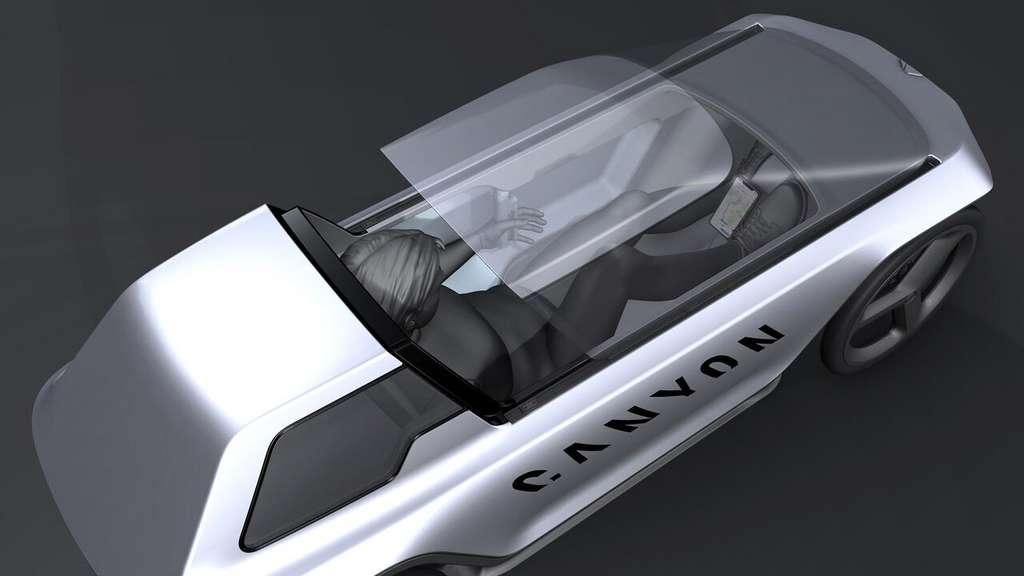 La verrière du cockpit coulisse pour permettre l'accès. © Canyon