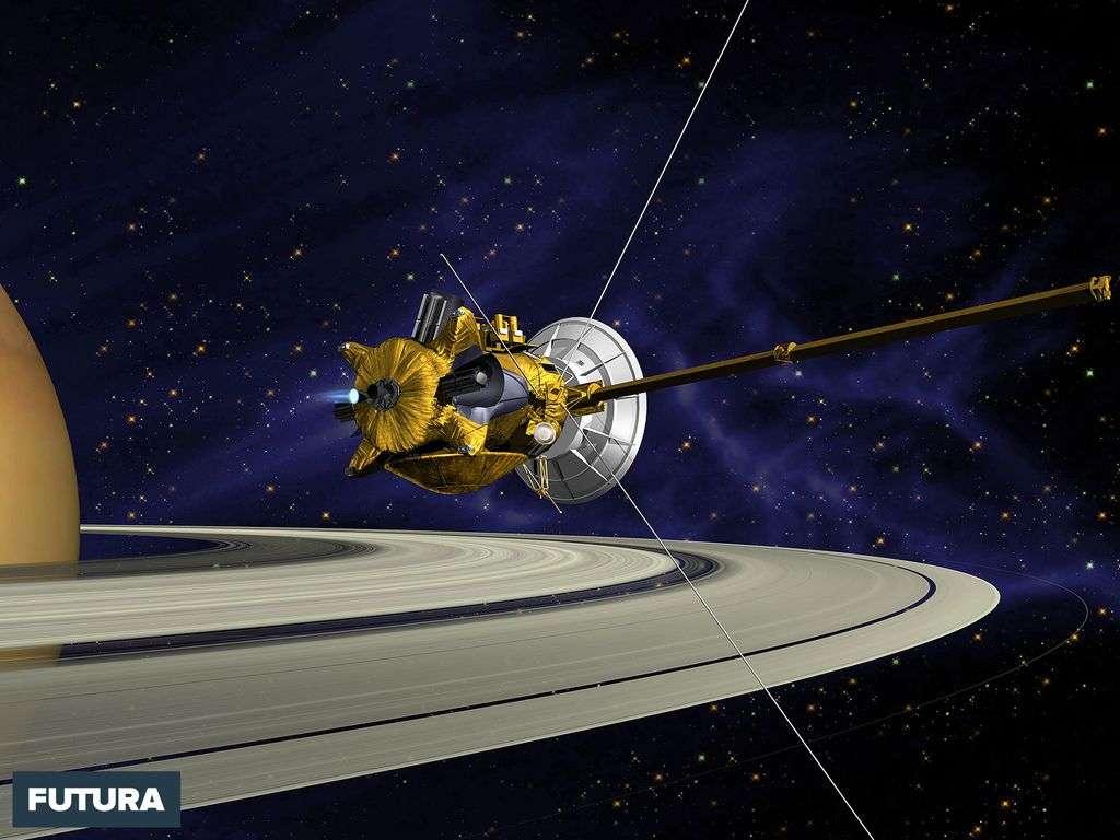 Vue d'artiste de la sonde spatiale Cassini-Huygens