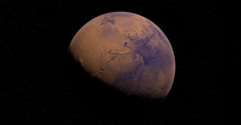 Avis de tempête de neige sur Mars. © AlexAntropov86, Pixabay, CC0 Creative Commons
