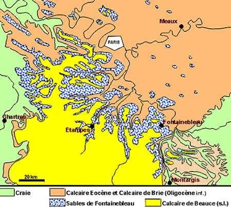 Géologie simplifiée de la région