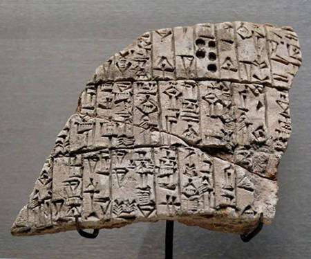 Clay cone Urukagina -Tablette mentionnant le creusement d'un canal d'irrigation © Louvre