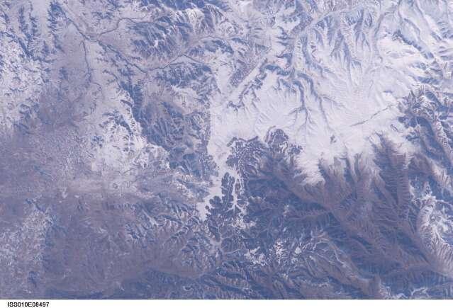 Saurez-vous trouver la Grande Muraille de Chine sur cette photo prise de la Station spatiale en 2004 ? © Nasa