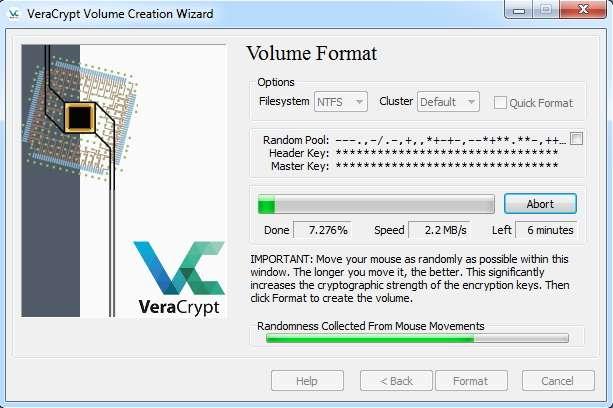 VeraCrypt protège votre disque dur en cryptant les données qu'il contient. © VeraCrypt