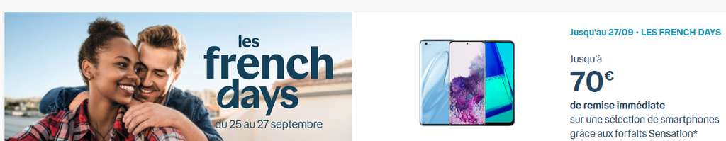 Promos smartphones French Days © Bouygues Telecom