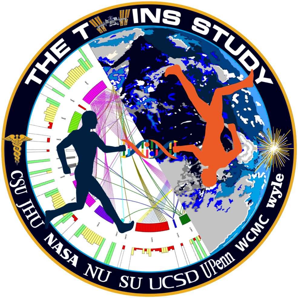 Logo de The Twins Study, la vaste étude menée par la Nasa sur les deux jumeaux astronautes. © Nasa