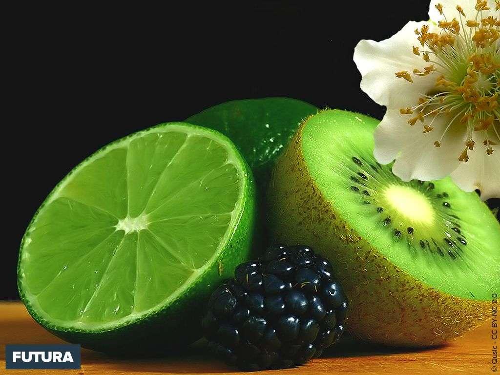 Cocktail vitamines, kiwi, citron vert