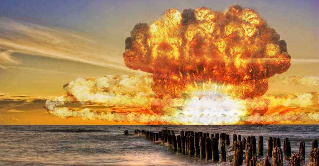 Il est à noter que les cyclones ou les explosions nucléaires peuvent aussi provoquer des désastres marins de type tsunami en donnant naissance à une vague soudaine, énorme et dévastatrice. © sdecoret, Fotolia