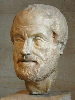 Portrait d'Aristote. Marbre du Pentélique, copie romaine de période impériale (Ier ou IIe siècle ap. J.-C.) d'un bronze perdu réalisé par Lysippe © Eric Gaba
