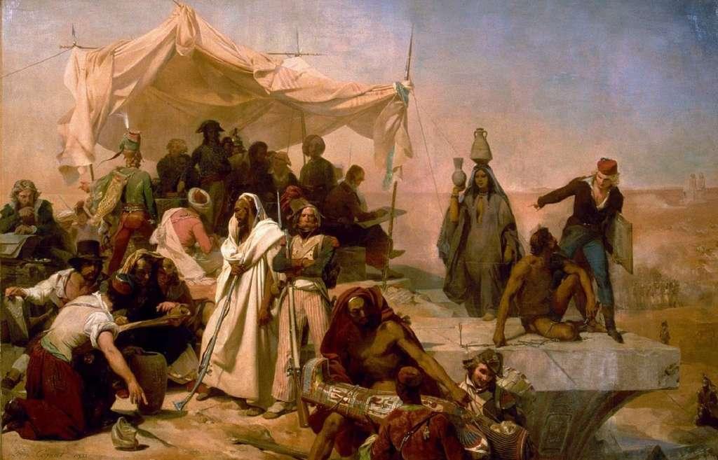 """""""L'expédition d'Egypte sous les ordres de Bonaparte"""", par Léon Cogniet en 1835. Musée du Louvre. © Wikimedia Commons, domaine public."""