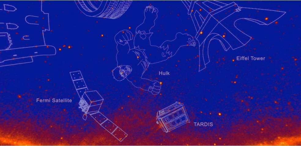 Le télescope spatial Fermi est une des 21 nouvelles constellations en rayons gamma. © Nasa