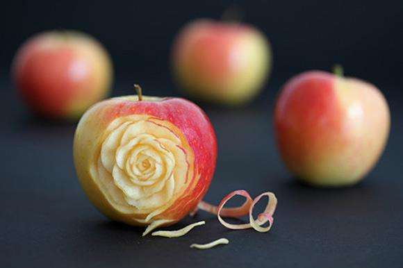 Pomme sculptée