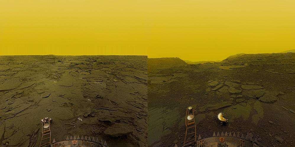 La surface de Vénus vue en 1982, vue par la sonde Venera 13. © Venera 13/Don P. Mitchell