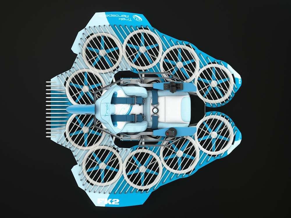 Le FlyKart2 est celui dans lequel on aurait le plus facilement envie de prendre place. © Trek Aerospace