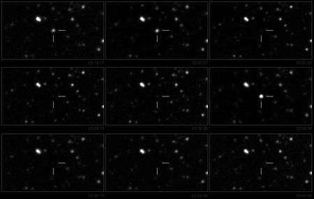 Cliquez pour agrandir. Les clins d'œil de Swift J195509+261406 observés avec le télescope de Teide, dans les îles des Canaries. Crédit : A.J. Castro-Tirado/IAC80/ESO