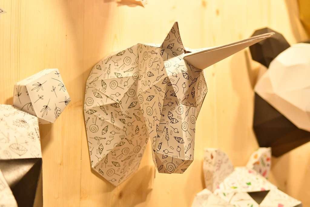 Origami au Salon du DIY, Création et Savoir-Faire, à Paris, Porte de Versailles. © Création et Savoir-Faire