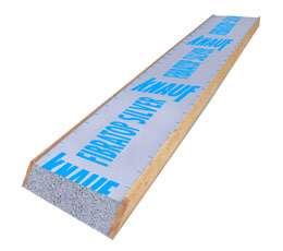 Caisson à coupe biaise pour pose parallèle à l'égout. Adapté aux couvertures classiques (ardoises, tuiles…) et tôles ondulées. Isolant en polystyrène expansé de 80 à 180 mm d'épaisseur. Existe en longueurs de 2,40 à 6,60 m (de 30 en 30 cm) et largeur de 60 cm. Sept sous-faces décoratives. © Knauf