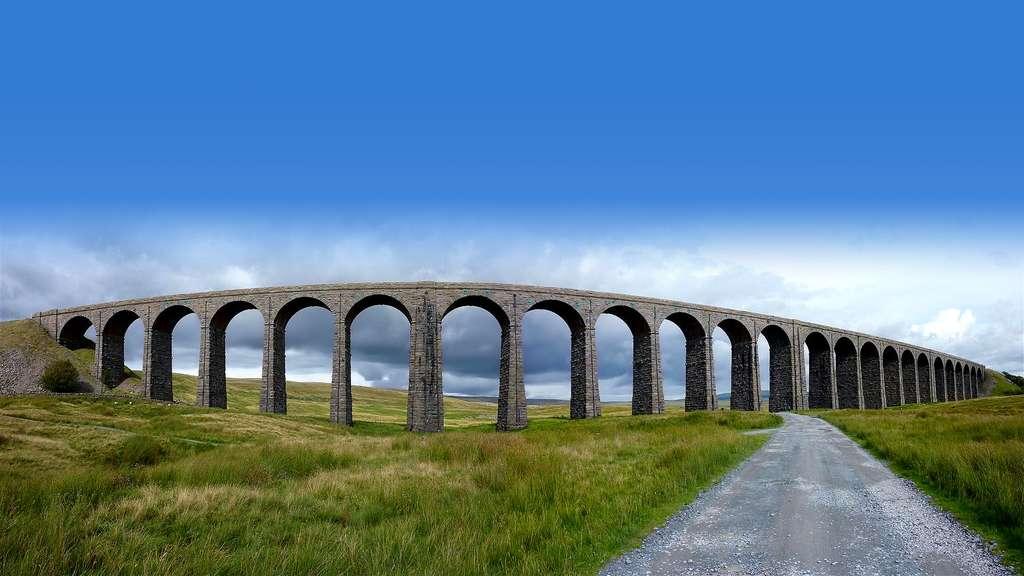 Le viaduc de Ribblehead, au Royaume-Uni