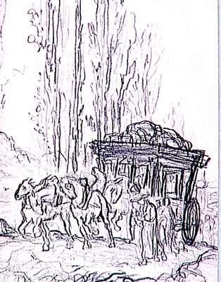 Etude de Gustave Moreau pour le coche et la mouche