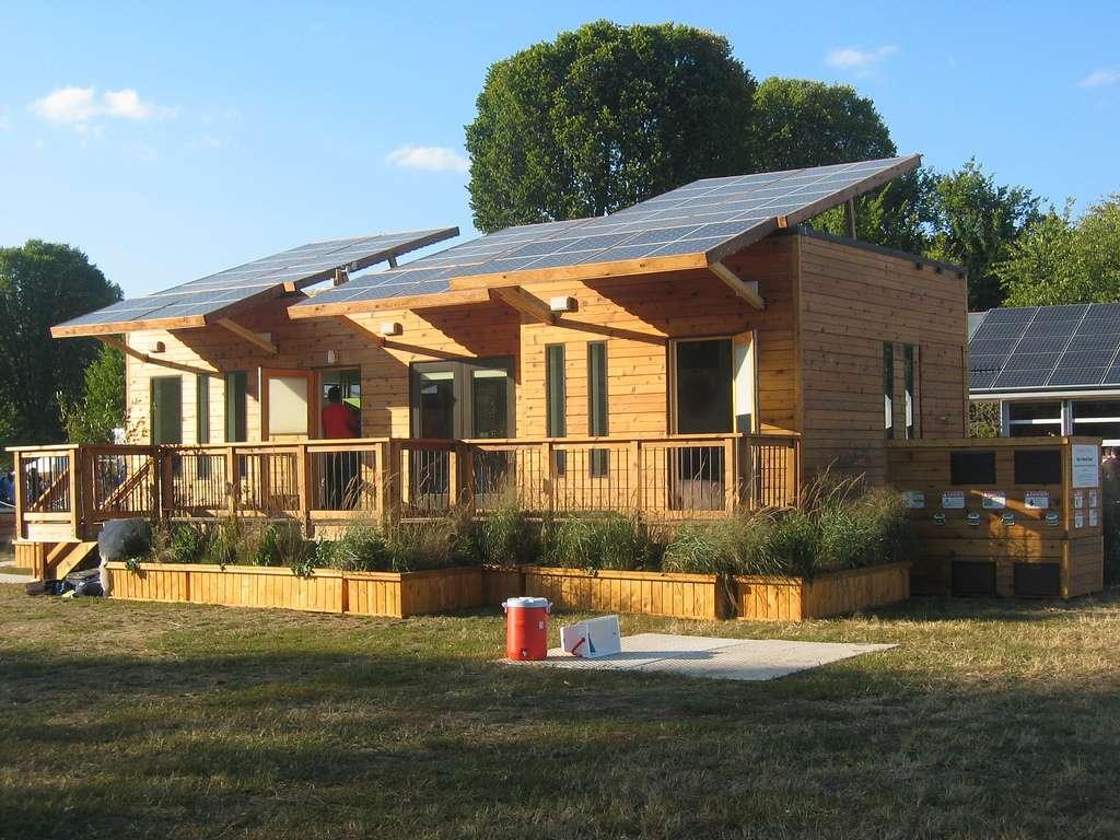 Maison solaire aux États-Unis
