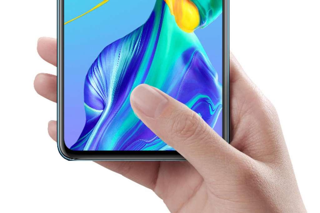 Le lecteur d'empreintes digitales est caché dans l'écran. © Huawei