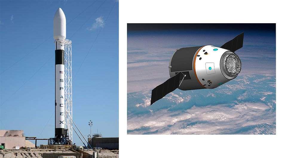 Falcon 9 a décollé de Cap Canaveral vendredi 4 juin à 18 h 45 TU et largué une maquette de la capsule Dragon. © SpaceX