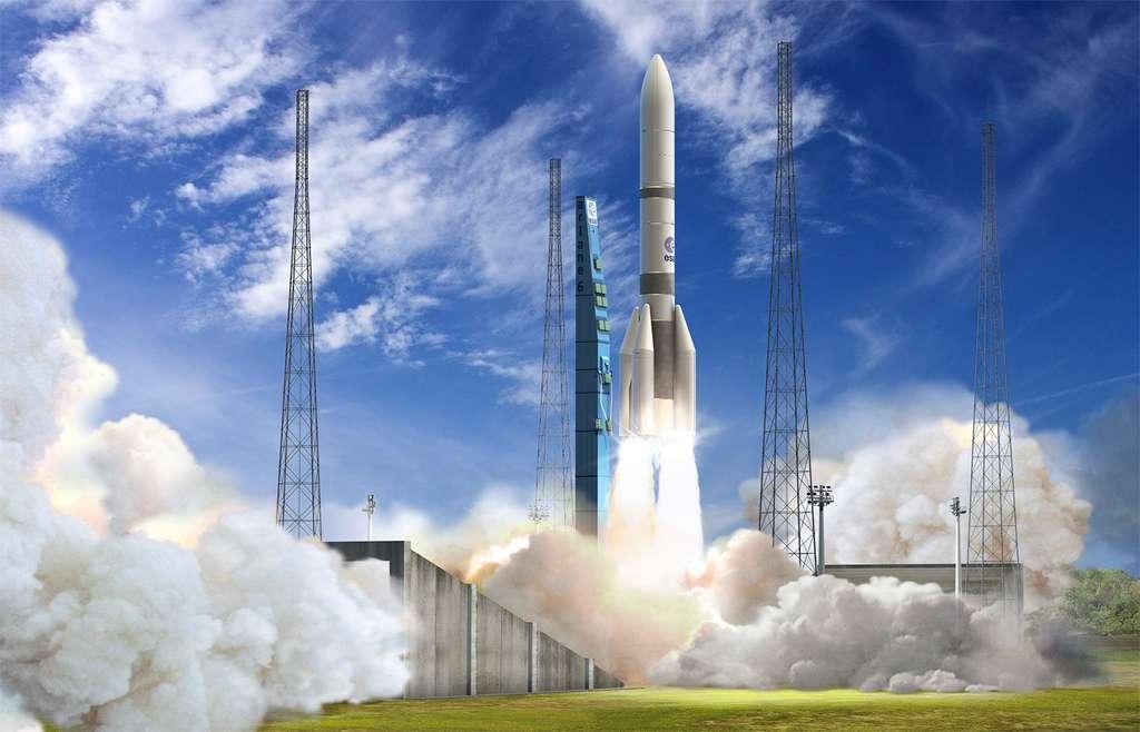 Malgré des délais de développement qui peuvent paraître courts, le premier lancement d'une Ariane 6 est prévu en 2020. © ESA, D. Ducros